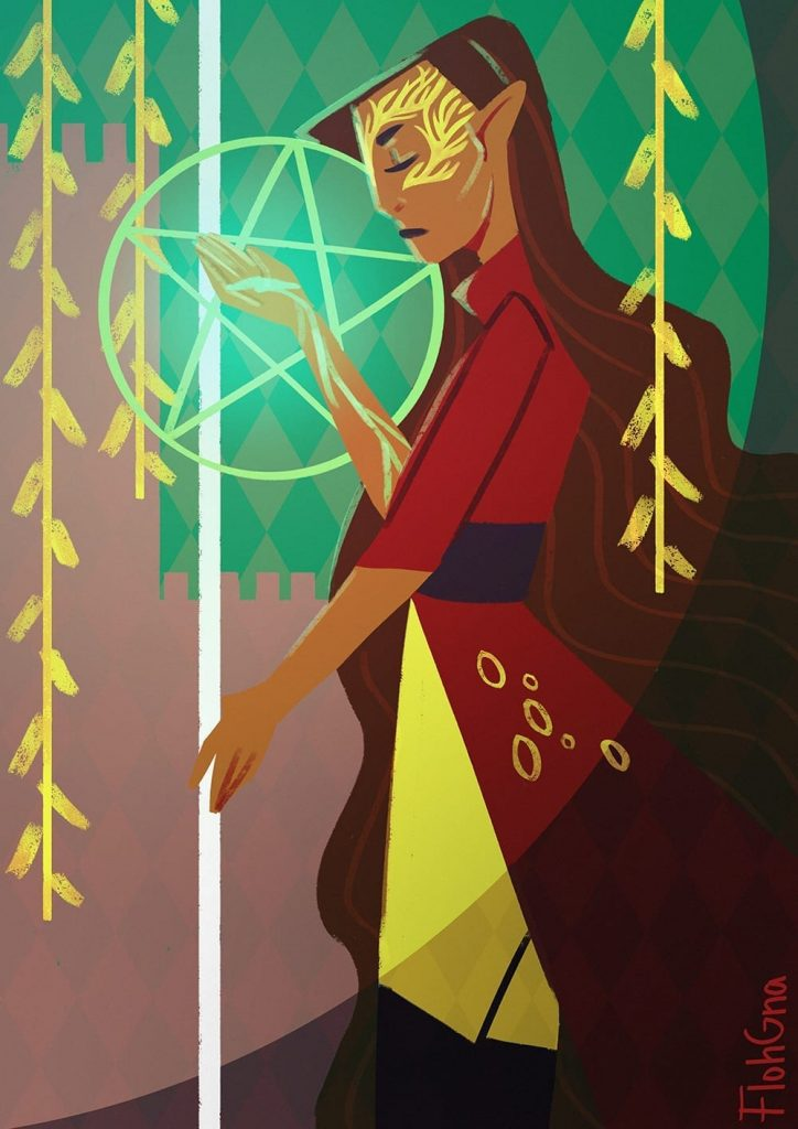 the floh king of pentacles